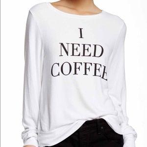 WILDFOX I need coffee jumper sweatshirt Large